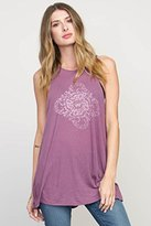 RVCA Junior's Dark Paisley Halter Neck Graphic Tank