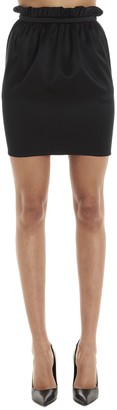Versace Elasticated Waist Mini Skirt