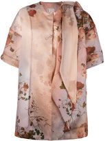 Antonio Marras floral print coat - women - Silk - 42