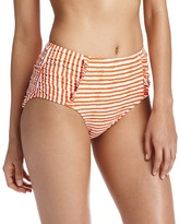LOFT Rope Stripe Ruffled High Waisted Bikini Bottom