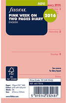 Filofax Week on 2 Pages Mini 2016 Diary Inserts, Pink