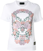 Philipp Plein floral skull T-shirt - women - Cotton/Modal - S