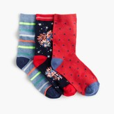 J.Crew Boys' Fourth of July ankle socks three-pack