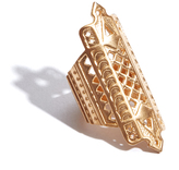 A Peace Treaty Gold Lattice Ring