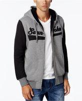 Sean John Men's Sherpa-Lined Hoodie with Contrast Sleeves