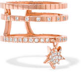 Diane Kordas Triple Cosmos 18-karat Rose Gold Diamond Ring