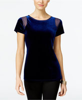 INC International Concepts Velvet Illusion Top, Only at Macy's