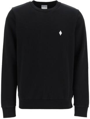 Marcelo Burlon County of Milan Crew Neck Sweatshirt With Fire Cross Embroidery