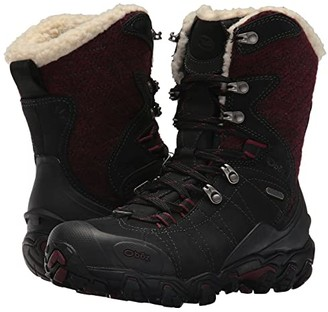 Oboz Bridger 9 Insulated BDry (Winterberry Red) Women's Shoes