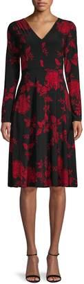 Tommy Hilfiger Moody Floral A-Line Dress