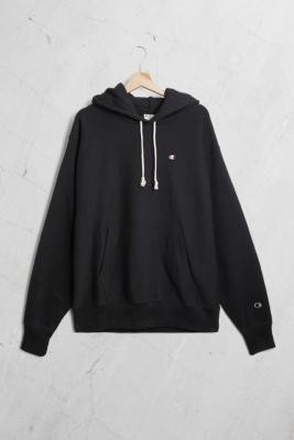 Champion UO Exclusive Small 'C' Logo Hoodie - Black S at Urban Outfitters