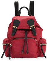 Burberry Medium Rucksack Runway Nylon Backpack, Plum Pink