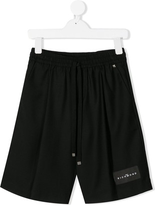 John Richmond Junior logo patch shorts