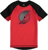 Outerstuff Youth Red/Black Portland Trail Blazers Color Block Rash Guard T-Shirt