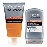 L'Oreal Men Expert Hydra Energetic Post Shave Kit - Foaming Cleansing Gel + Post Shave Balm - Pack of 2