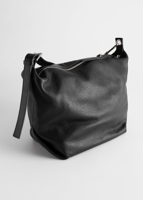 And other stories Grained Leather Duffle Bag