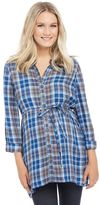 Maternity Oh Baby by MotherhoodTM Plaid Tunic