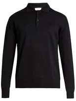 Tomorrowland Long-sleeved Wool And Mohair-blend Polo Shirt