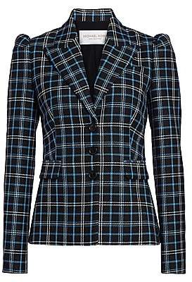 Michael Kors Women's Puff-Shoulder Virgin Wool Blazer