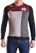 Daniele Alessandrini Men's Multicolor Wool Sweater.