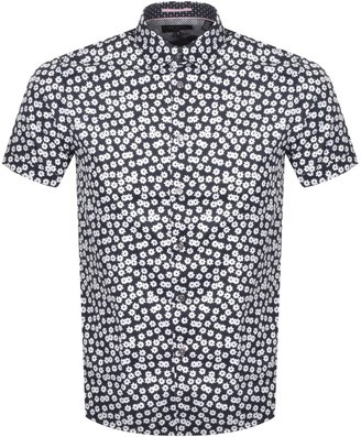 Ted Baker Relax Short Sleeved Shirt Navy