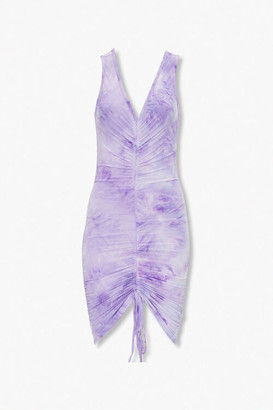 Forever 21 Ruched Tie-Dye Bodycon Dress