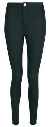 Dorothy Perkins Womens Green 'Lyla' Ultra High Waist Skinny Jeans, Green