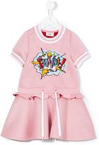 Fendi embellished exploding logo dress - kids - Modal - 3 yrs
