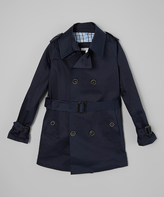 Isaac Mizrahi Navy Trench Coat - Toddler & Boys