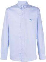Etro micro-check print button down shirt