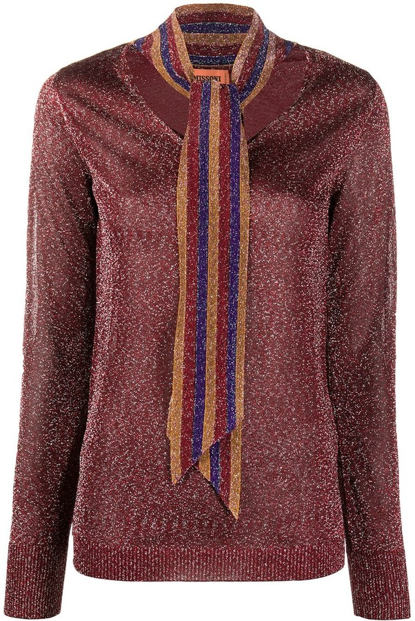 Missoni Tie Detail Knitted Top