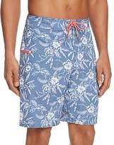 Vineyard Vines Aquatic Hibiscus Dot Board Shorts