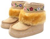 Aivtalk Baby Girl Cute Flower Fur Moccasins Boots Toddler Soft Sole Prewalker Winter Warm Walking Snow Shoes Size 16