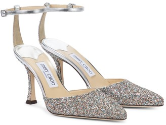 Jimmy Choo Mair 90 glitter pumps