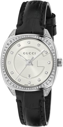 Gucci Women's Diamond Croc-Embossed Leather Watch, 29mm
