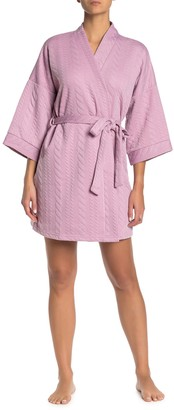 Jessica Simpson Textured Tie Front Robe