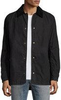 Belstaff Lydden Waxed Cotton Shirt Jacket, Black