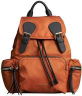 Burberry The Medium Rucksack in Technical Nylon and Leather