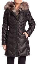 Dawn Levy Naomi Fox Fur-Lined Down Puffer Jacket