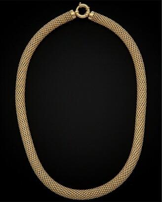 Italian Gold 14K Puffed Mesh Necklace