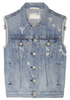Rag and Bone Rag & bone JEAN Distressed denim vest