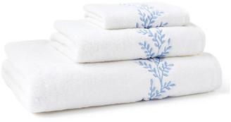 Hamburg House 3-Pc Willow Towel Set - Blue