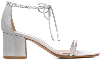 Gianvito Rossi Embellished Mid-Heel Sandals