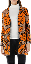 Marc Cain Jacquard Knitted Cardigan, Orange/Gold