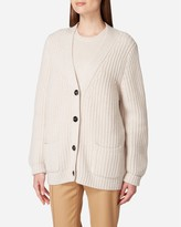 N.Peal Chunky Cashmere Jacket Cardigan