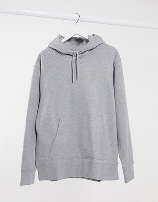 Topman overhead hoodie in grey