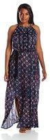 Lucky Brand Women's Plus-Size Printed Maxi Dress