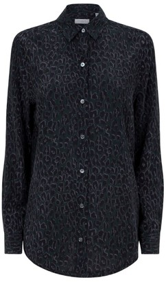 Equipment Silk Leopard Print Shirt