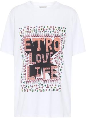 Etro Printed cotton-jersey T-shirt