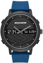 Skechers Men's Quartz Metal and Silicone Casual Watch, Color:Blue